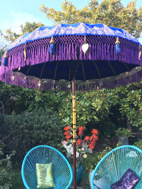 Paradise Island Collection Purple and Blue Umbrella
