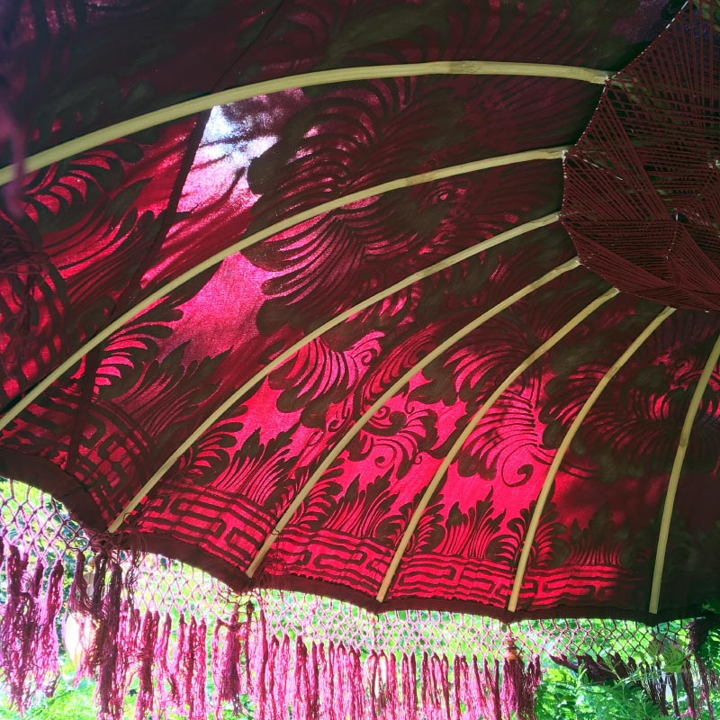 Paradise Island Collection Imperial Red Outdoor Umbrella